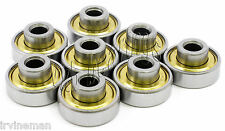 """Lot of 8 Extended Wheel Ball Bearing 1/4""""x 22mm x 7mm"""
