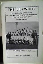 Officiel supporters club 24 page wellington town 67-68 handbook