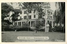 Proprietor Stands in Front of the Riverside Hotel, Tappahannock VA