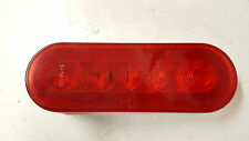 "ONE 6"" Oval Red Clear Stop Turn Tail Light Grommet Optronics Glow Halo Trailer"