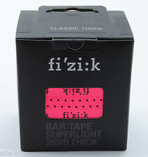 Fizik Superlight 2mm Superlight Road Bike Bar Tape Neon Pink Fluorescent w/Logos