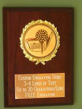 Golf/Hole-In-One Award Plaque 4x6 Trophy FREE engraving