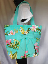 Women Fashion Handbag Thai Cotton Turquoise Shoulder Bag