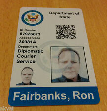 24 Season 9 Replica PVC Card ft. Jack Bauer's US Embassay Security Clearance ID