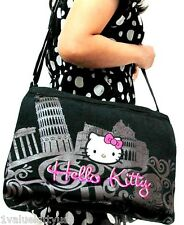 HELLO KITTY CANVAS EURO STYLE MESSENGER BAG Great Gift s1 **US SELLER**