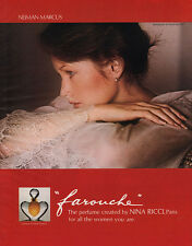 David Hamilton Girl Photographer FAROUCHE Lalique NINA RICCI Lace Blouse 1975 Ad