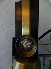Art deco Stnola clock and lamp