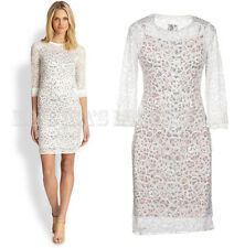 JUST CAVALLI BY ROBERTO CAVALLI DRESS EMBROIDERED LACE sz L / LARGE