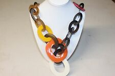 Buffalo/Cow Horn Necklace Handmade Craft Fashion Jewelry-Necklace 0049