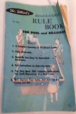 Vintage Mr. Billiard's Regulation Rule Book For Pool and Billiards 1966 No. 2452