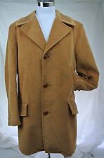 Vintage Brown Corduroy Ranch Cowboy Coat 44 Tall Hip Classic Pimp Retro 70s