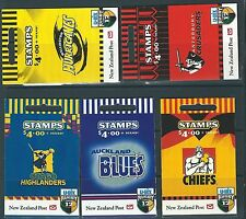 NEW ZEALAND 1999 RUGBY SUPER 12 SET OF 5 MINT BOOKLETS