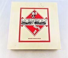 *Monopoly* Brohm - Parker - Spiele / DM Ausgabe /  weiße Box
