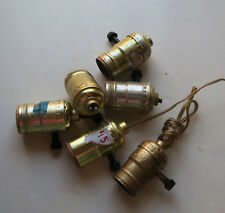 Lot of 6 socket parts with switch key for Vintage Banquet lamp Leviton press