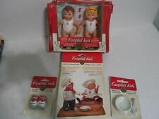 "Huge lot of vintage Campbell Kids 5""dolls and accessories New in package"