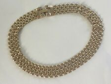 VINTAGE CORO PEGASUS GOLD CHOKER CHAIN LINK STYLE SIGNED