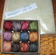 VALDANI THREADS AND LINEN FOR ROSEWOOD MANOR QUAKER DIAMONDS CROSS STITCH CHART
