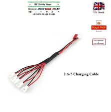 Hubsan Walkera Ladybird Lipo Battery 2 to 5 Charging Cable Lead 2Pin Adapter RC