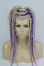 Blonde and Purple Dread Fall Burning Man Halloween Cosplay Boho Fairy Hair piece