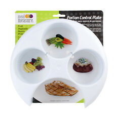 Meal Measure Portion Control on Your Plate (White) Diet Weight Loss Healthy Tool