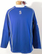 NWT Majestic Seattle Mariners Mens OnField Pullover Sweatshirt 2XL Blue MSRP$80