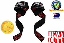 LIONS FIT GEL LIFTING STRAPS, EXTRA GRIP NO-SLIP PADDED WEIGHT LIFTING STRAP