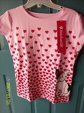 NWT- AMERICAN GIRL of THE YEAR GRACE PUPPY TEE FOR GIRLS FRENCH BULLDOG LARGE 14