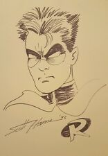 "SCOTT HANNA ROBIN SKETCH DRAWING PRINT? 20"" x 30"" POSTER 1993"