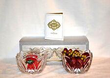"""Serenade crystal votive (set of 2) """"Shannon crystal by Godinger""""New*"""