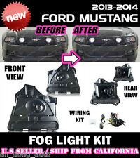 13 14 FORD MUSTANG BASE GT Fog Light Driving Lamp Kit w/switch wiring (CLEAR)