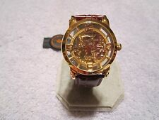 STUHRLING MEN'S GOLD CLASSIC WINCHESTER GRAND SKELETON AUTOMATIC WRIST WATCH