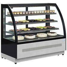 PATISSERIE CURVED GLASS SHOP DISPLAY FRIDGE COUNTER @ £1499+Vat & FREE DELIVERY
