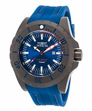 Invicta 23743 Men's TI-22 Blue Dial Grey IP Titanium Blue Polyurethane Watch