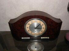 old CLOCK ALARM big Art Deco old antique bakelite antique chrome VINTAGE bauhaus