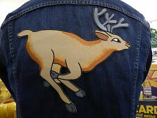 GRAND ECUSSON PATCH THERMOCOLLANT/ CERF chevreuil animal chasse nature bambie