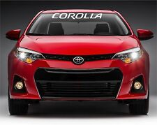 "toyota corolla windshield banner vinyl decals stickers 43.6"" x 5"""
