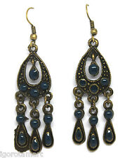 2 PCS BRONZE TONE VINTAGE GOTH GOTHIC STYLE EAR STUD DROP DANGLE EARRINGS NEW
