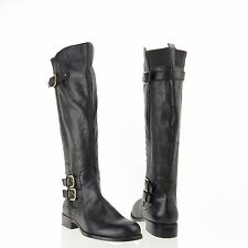 Women's Naturalizer Johanna Shoes Black Leather Riding Boots Size 5 M, EU 35 NEW