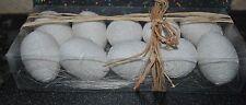 NEW EASTER DECOR SET/10 EGGS White Box Styrofoam Knit