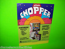 CHOPPER By ALLIED 1974 ORIGINAL EARLY PRE-VIDEO GAME ARCADE GAME PROMO FLYER