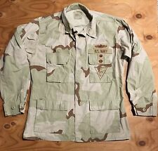US NAVY Maritime Expeditionary Security DCU Desert Camouflage Jacket Medium