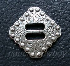 """WESTERN HORSE TACK LEATHER CRAFT ANTIQUE BERRY DIAMOND SLOTTED CONCHO 1-1/2"""""""