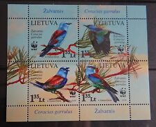 WWF Birds - full set - stamps of Lithuania 2008 Lituania Lituanie Litauen MNH