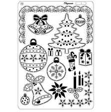 Pergamano Parchment Craft Multi Grid 10 - Christmas Tree Borders Stocking Bauble