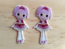 Lalaloopsy Jewel Sparkles Flat Back Resin-Cabochon-Plastic-Hair Bow Center