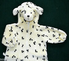 kids FUZZY FUR / PLUSH DALMATIAN DOG Halloween Costume  size S (2-3 ), faux fur