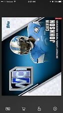 2016 Topps Huddle CALVIN JOHNSON Patch Relic - Digital