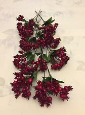 20 Red Berry Stems Christmas Picks Holly Berries Wreath Craft Joblot Clearance