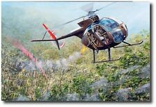 """Eye of the Tiger by Joe Kline - OH-6A """"Loach"""" - Helicopter Art Prints"""