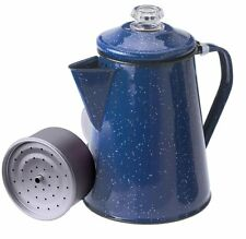 GSI Outdoors Enamelware 8 Cup Percolator Blue ~ Coffee Pot Hiking, Camping